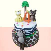 Kids special jungle cake