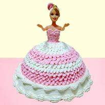 Vanilla Barbie Doll Cake