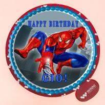 Spiderman Photo Cake