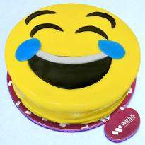 Delectable Smiley Cake