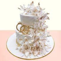 Creamy Creations Wedding Cake
