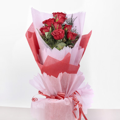 Buy 10 Red Roses in Paper Packing