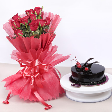 Buy Beautiful Red Rose Hamper