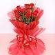 Buy 10 Red Roses in Red Paper Packing