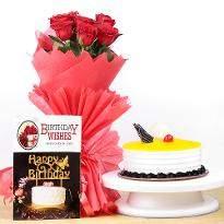 Cake and Roses Hamper