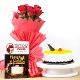 Buy Cake and Roses Hamper