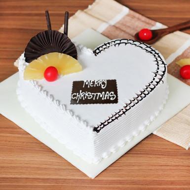 Buy Heart Shape Pineapple Cake for Christmas