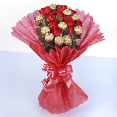 Buy Roses Ferrero Rocher Chocolate Bouquet