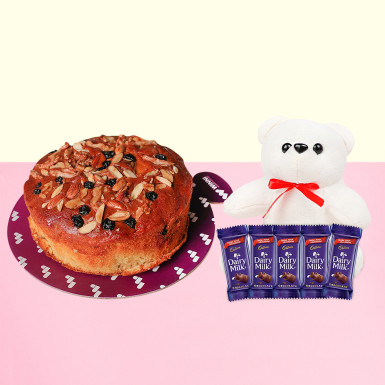 Buy Plum Cake With Teddy