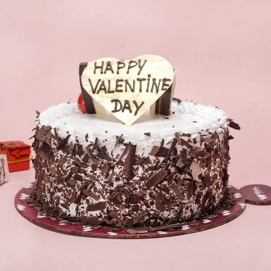 Buy Black Forest Valentine Cake