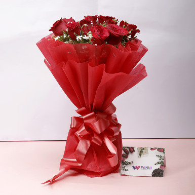 12 red roses bouquet: order flowers online
