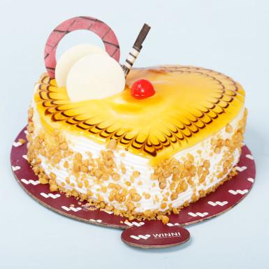 Buy Butterscotch Heart Shape Cake