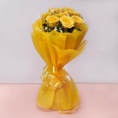 Buy 8 Yellow Roses